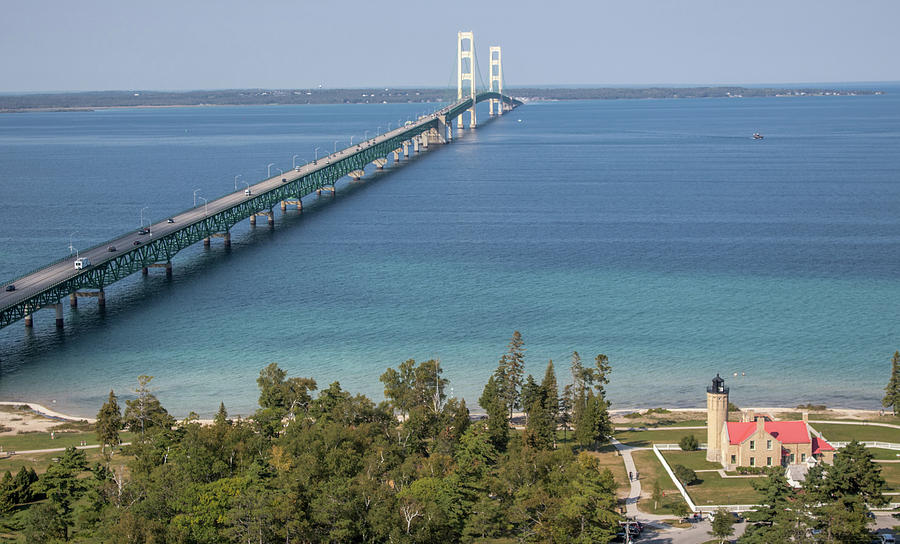 Mackinac Bridge by Laurent Fady
