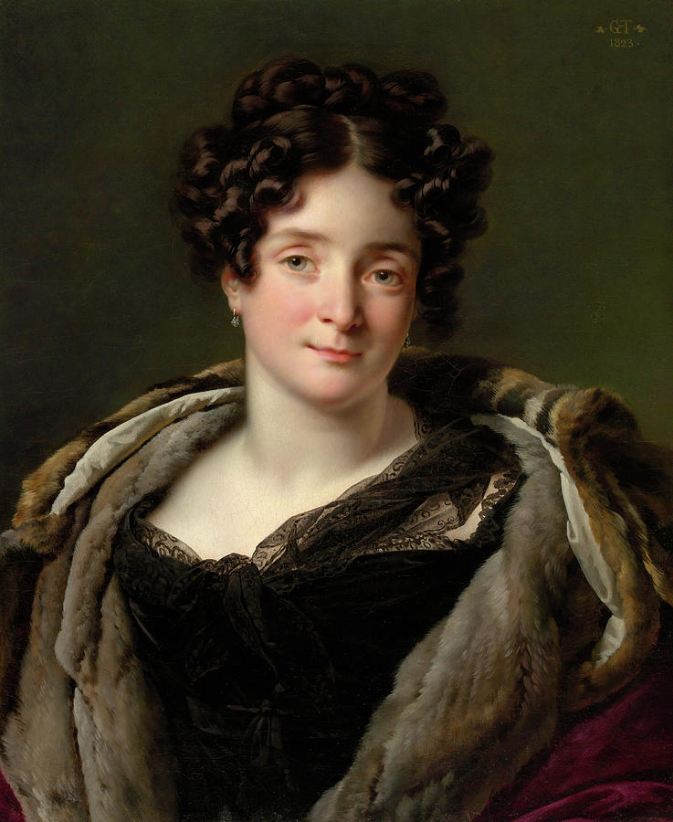 Madame Jacques-Louis-Etienne Reizet -Colette-Desiree-Therese Godefroy, 1782-1850-. by Anne Louis Girodet-Trioson