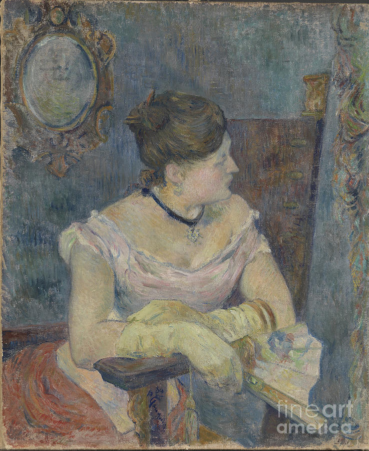 Madame Mette Gauguin In Evening Dress Drawing by Heritage Images