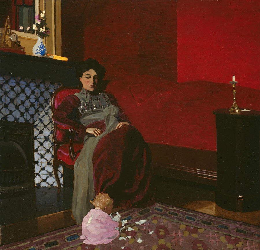 Madame Vallotton and her Niece, Germaine Aghion by Felix Edouard Vallotton