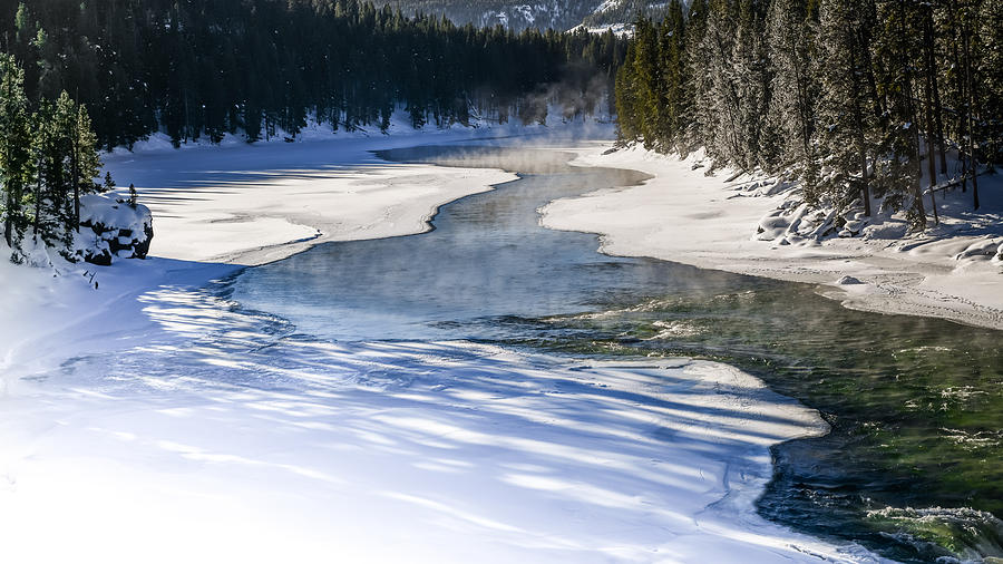 Madison River Photograph - Madison River Blues by Karen Wiles