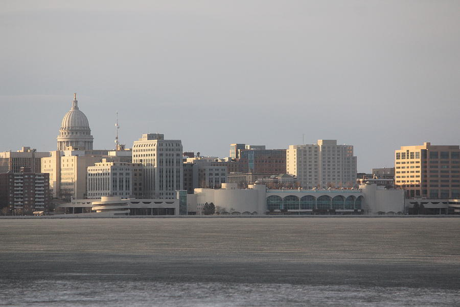 Madison Photograph - Madison Skyline by Callen Harty