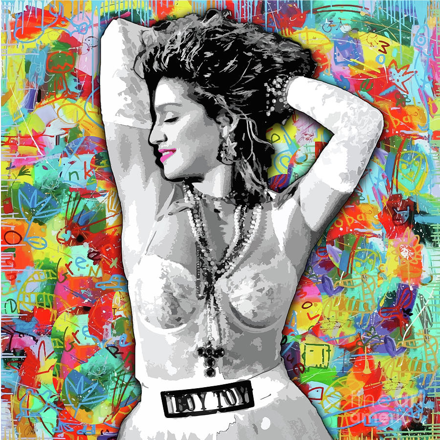 Madonna Painting - Madonna Boy Toy by Carla B