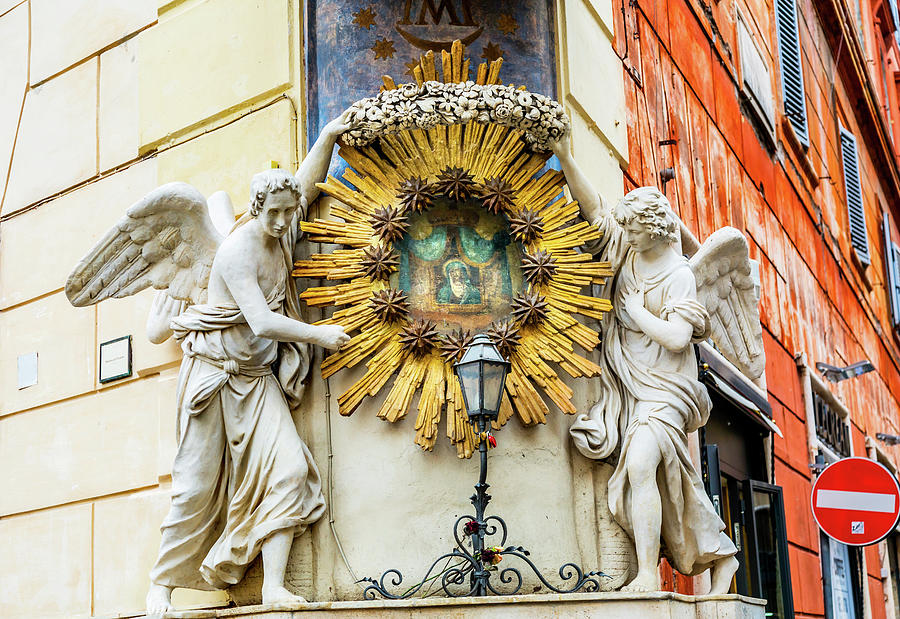 Angel Photograph - Madonna Del Archetto Angels Statues by William Perry