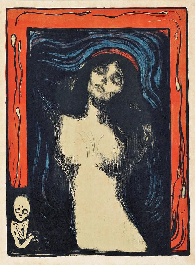 Edvard Munch Painting - Madonna - Digital Remastered Edition by Edvard Munch