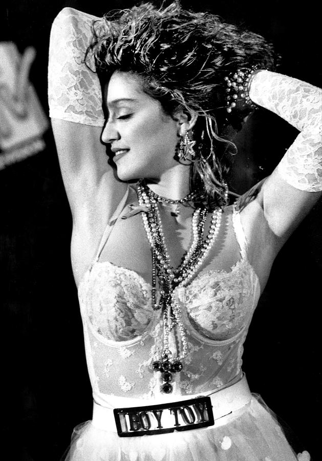 1980-1989 Photograph - Madonna During A Performance At Mtv by New York Daily News Archive