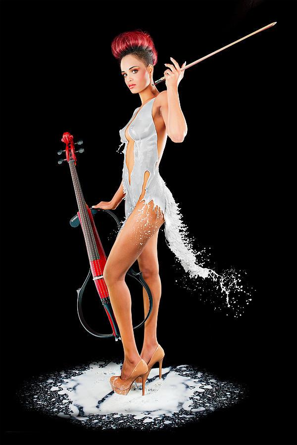 Dress Photograph - Maestro Milk Dress by Stanislav Pokhodilo