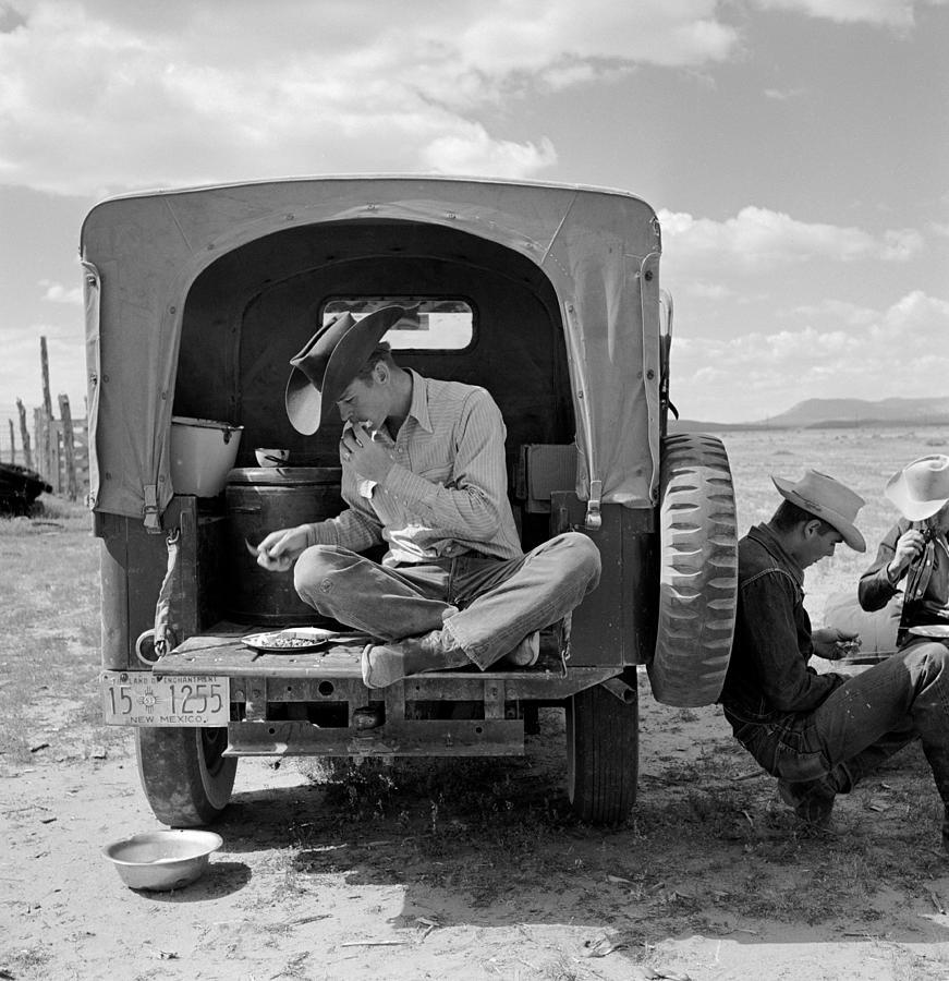 Magdalena Cowboys Photograph by John Dominis