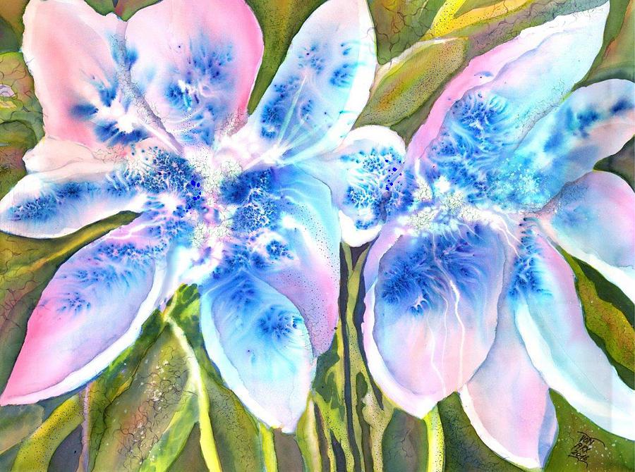 Magic Abstract Daylily by Sabina Von Arx