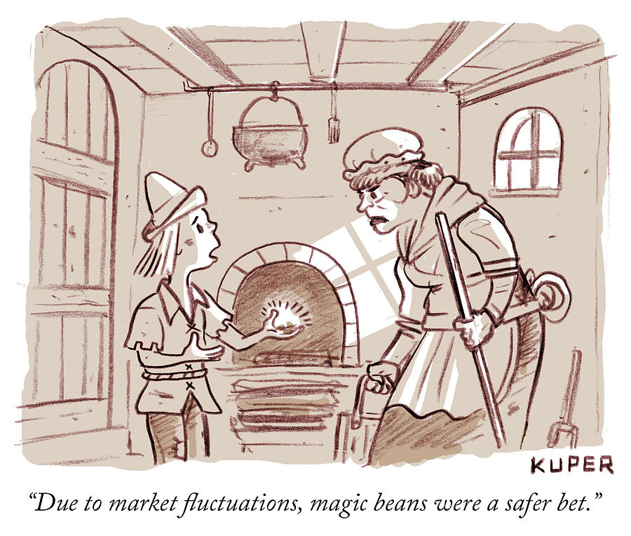 Magic beans Drawing by Peter Kuper