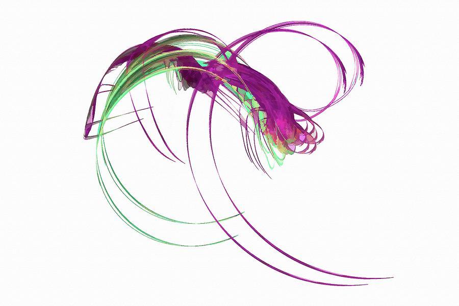 Magic Bug Monster Pinkish Digital Art
