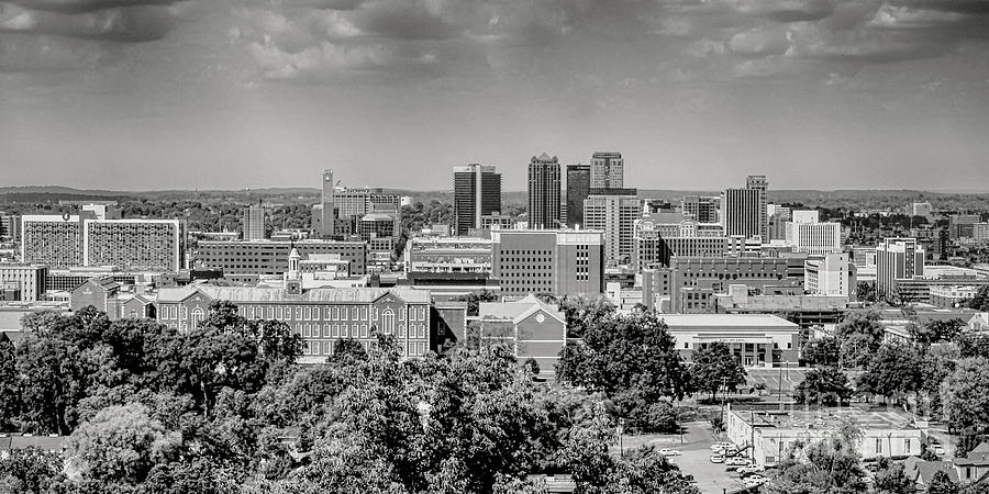 Magic City Skyline BW by Ken Johnson