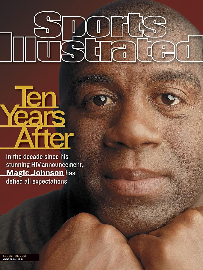 Magic Johnson, Basketball Sports Illustrated Cover Photograph by Sports Illustrated