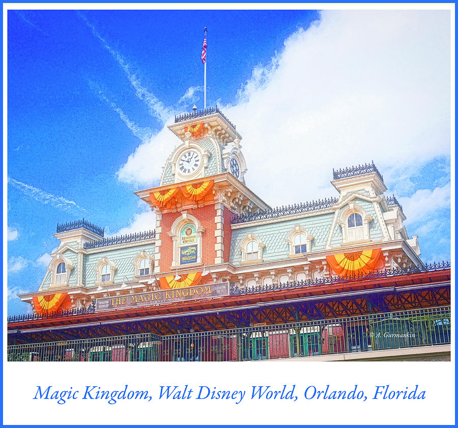 Magic Kingdom Entrance, Walt Disney World, Orlando, Florida by A Gurmankin