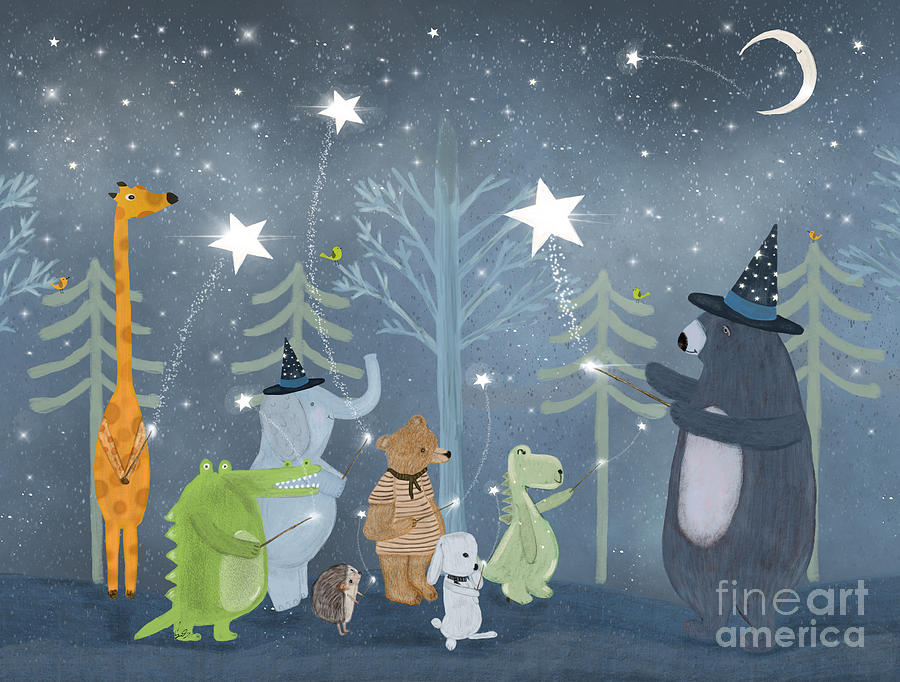 Children's Painting - Magic Stars by Bri Buckley