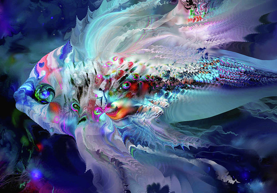 Abstract Digital Art - Magical Fish 9 by Natalia Rudzina
