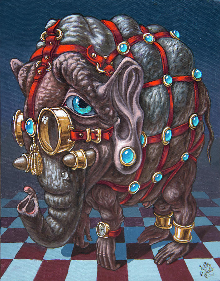 Magical Many-Eyed Elephant by Victor Molev