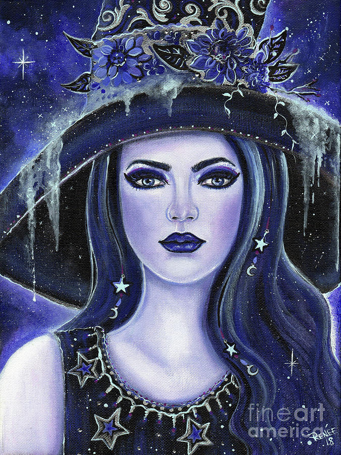 Witch Painting Painting - Magical Misty Witch by Renee Lavoie