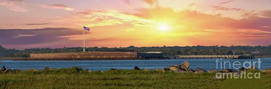 Magical Sunrise Over Fort Sumter In Charleston South Carolina Photograph