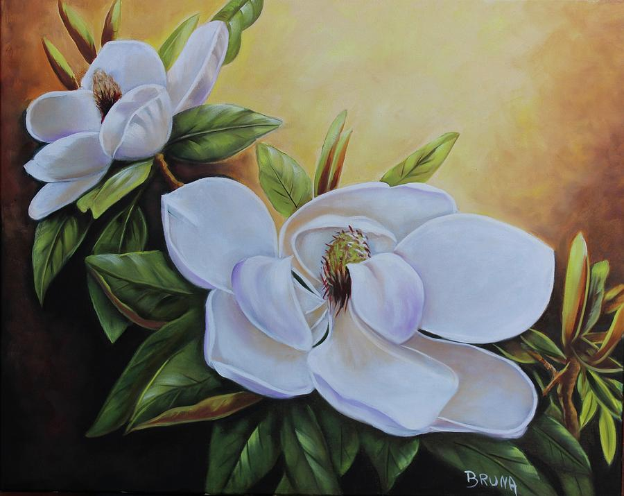 Magnolia Bloom Painting By Bruna Christian