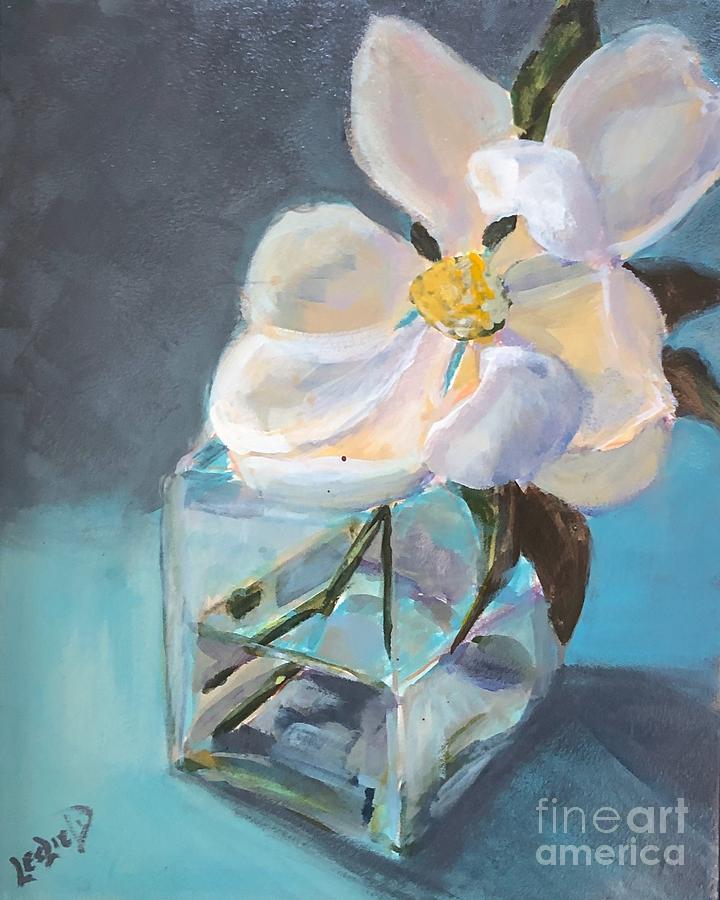 Magnolia Painting - Magnolia by Leslie Dobbins