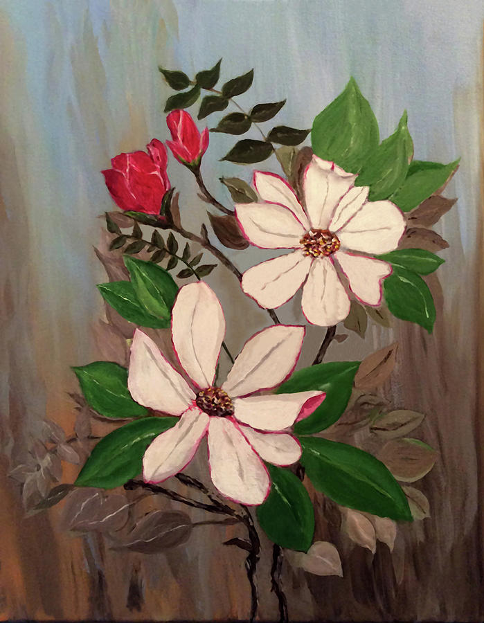 Magnolias and Roses by Connie Spencer