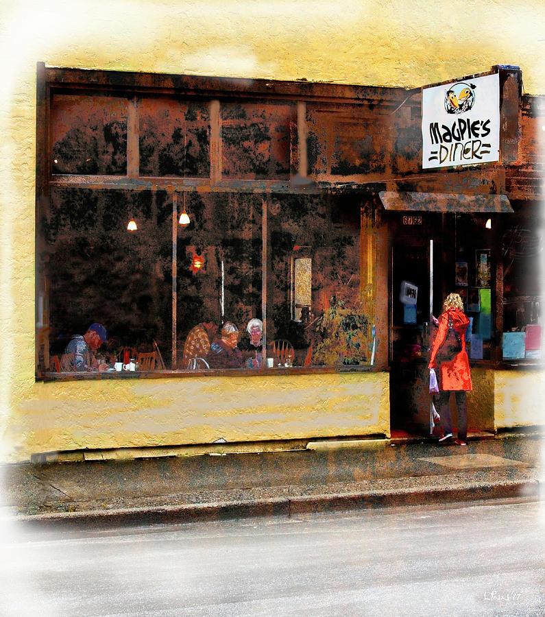 Diner Digital Art - Magpies by Bill Linn