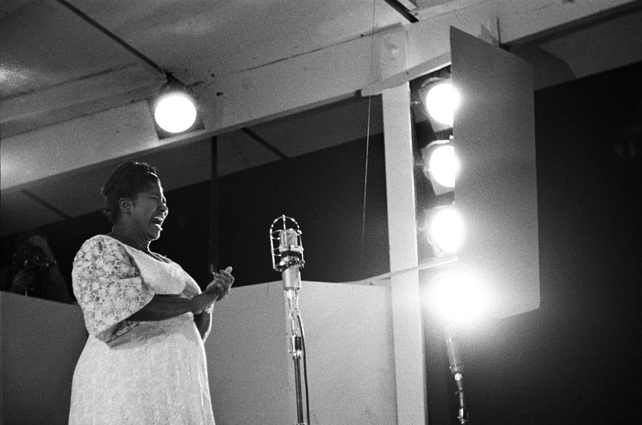 Mahalia Jackson Performs At The Newport Photograph by Michael Ochs Archives