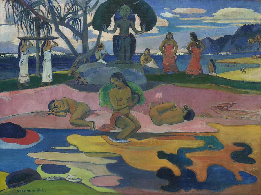Mahana no atua - Day of the God by Paul Gauguin