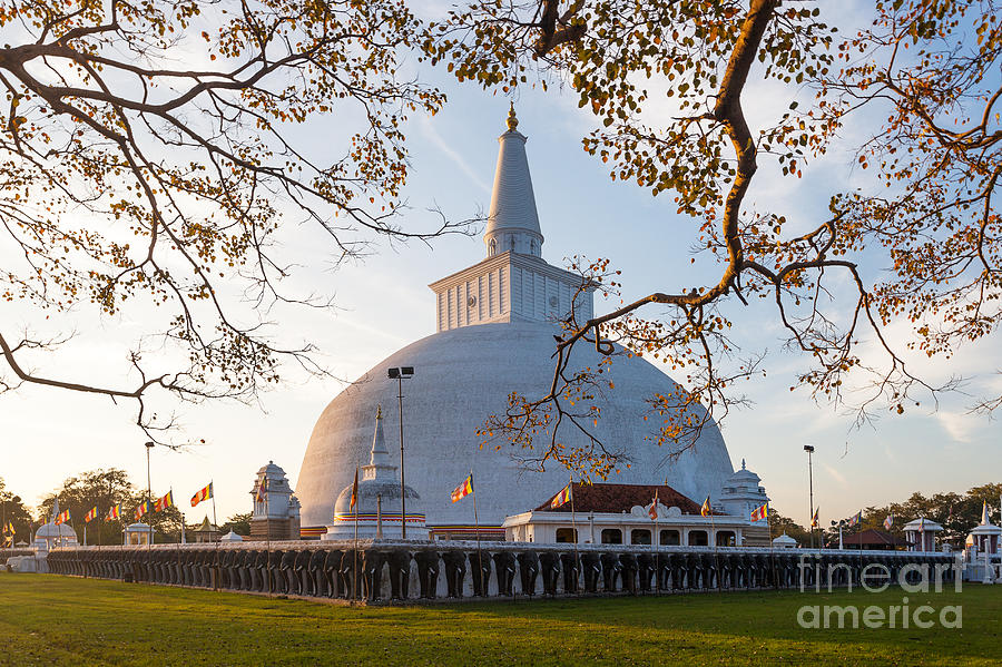 Big Photograph - Mahatupa Big Dagoba In Anuradhapura by Honza Hruby