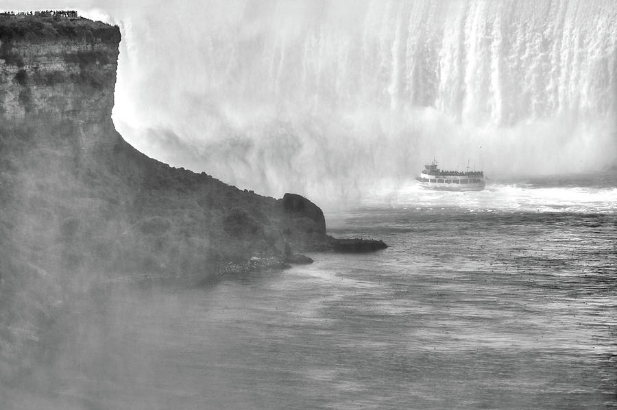 Maid of the Mist at Horseshoe Falls, Niagara by Jim Hughes