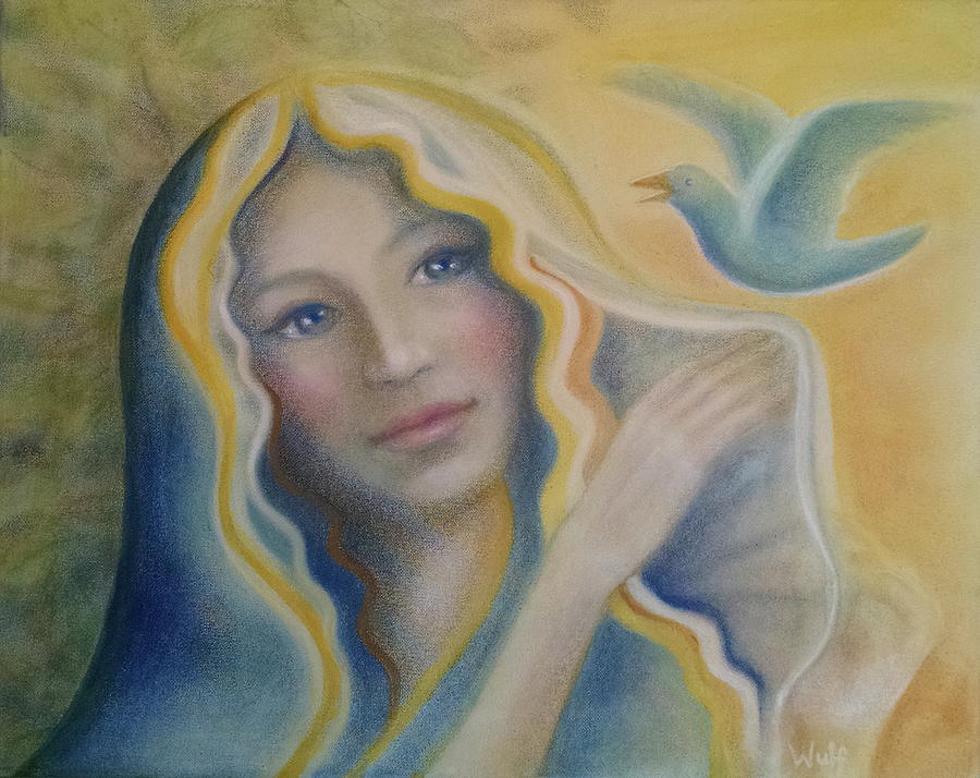 Maiden and Bluebird by Bernadette Wulf