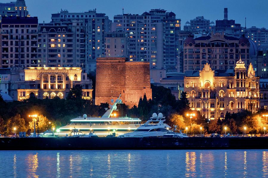 Maiden Tower seen from the Caspian sea by Fabrizio Troiani