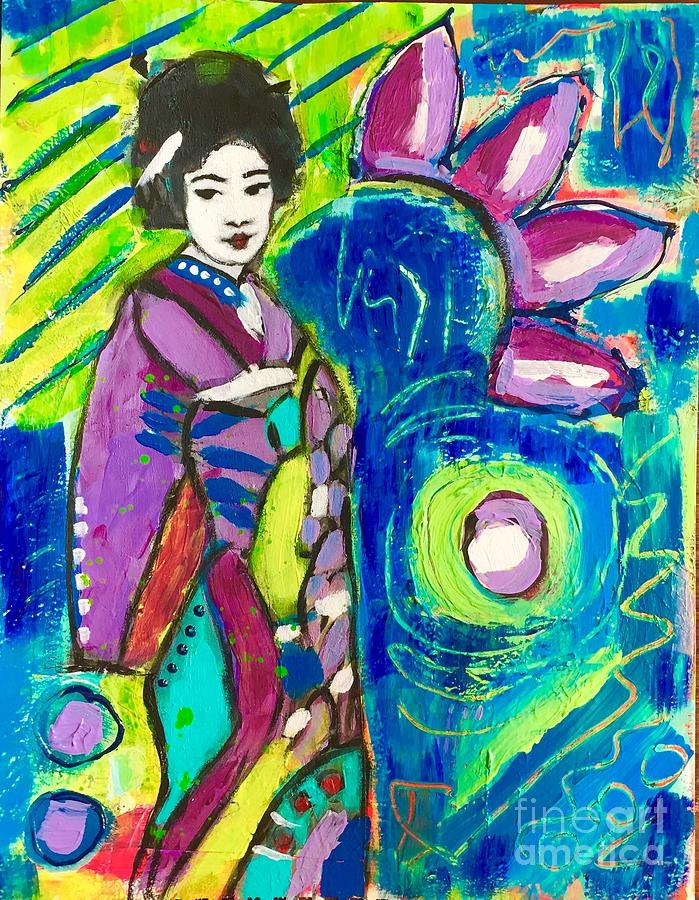 Maiko in green  by Corina Stupu Thomas