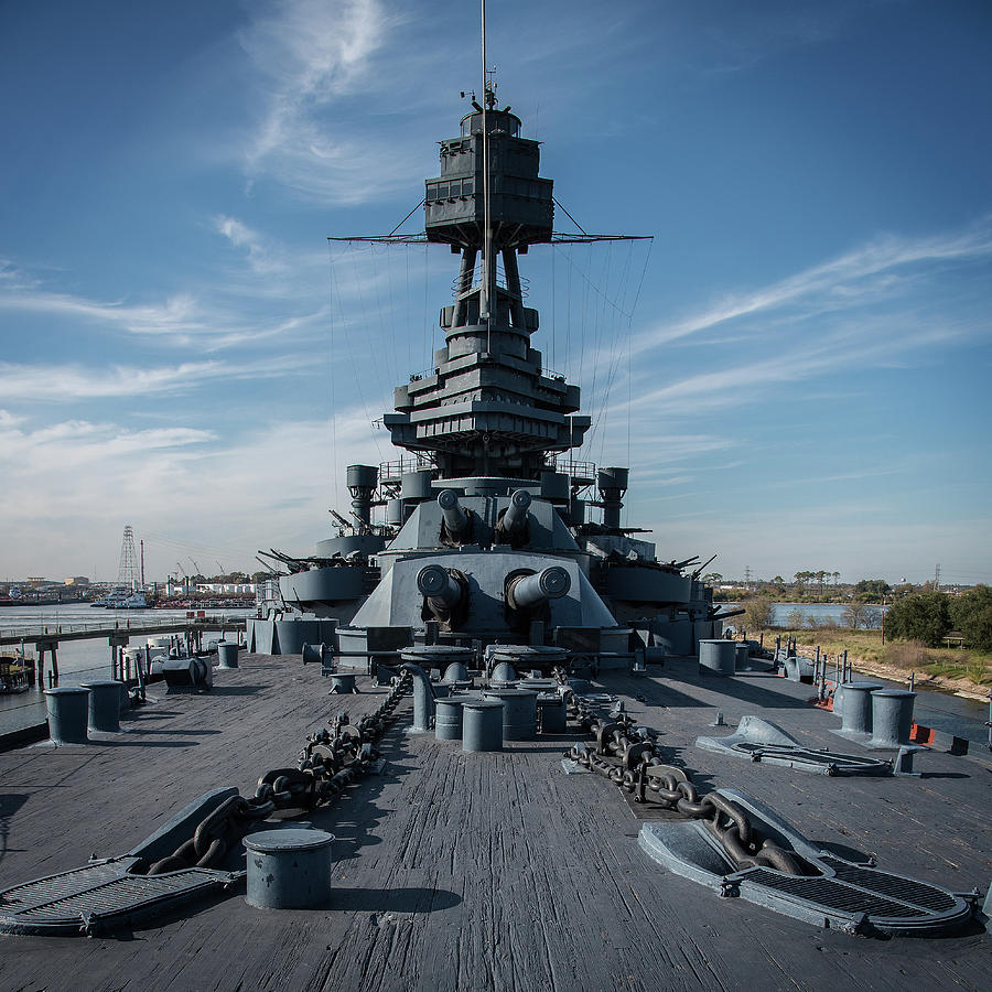 Main Deck, USS Texas by Bud Simpson