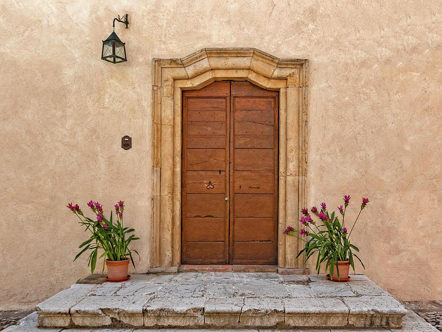 Main door and flowerpots by Roberto Pagani