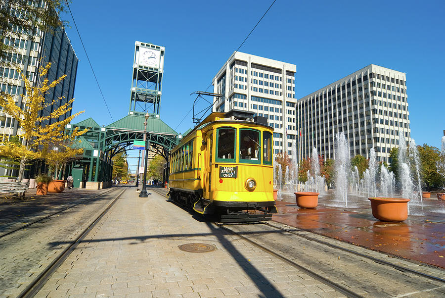 Main Street Trolley In Memphis, Tn Photograph by Davel5957