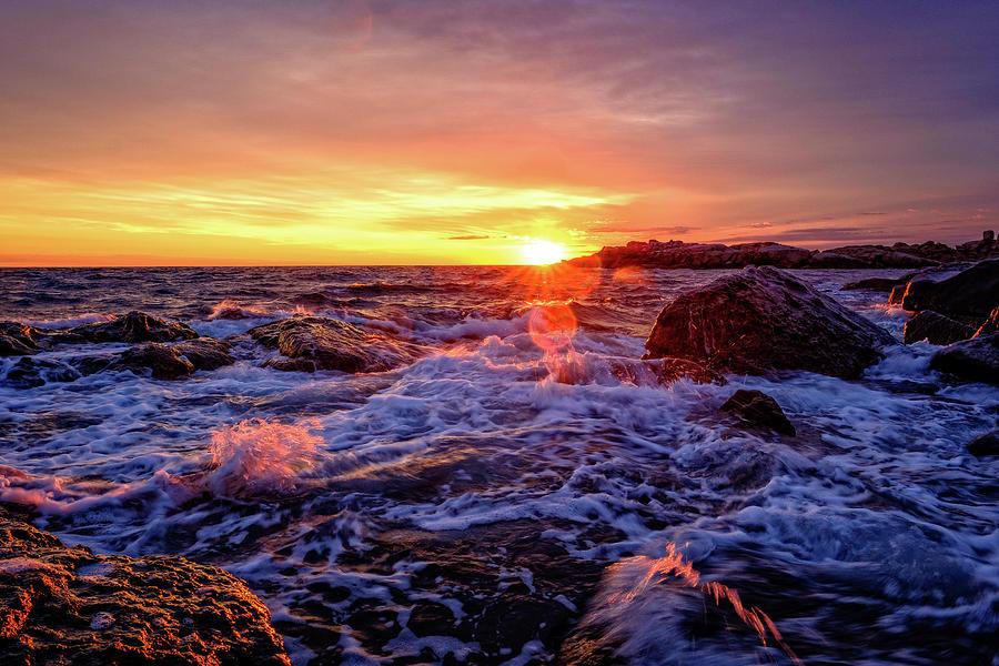 Maine Coast Sunrise. by Jeff Sinon