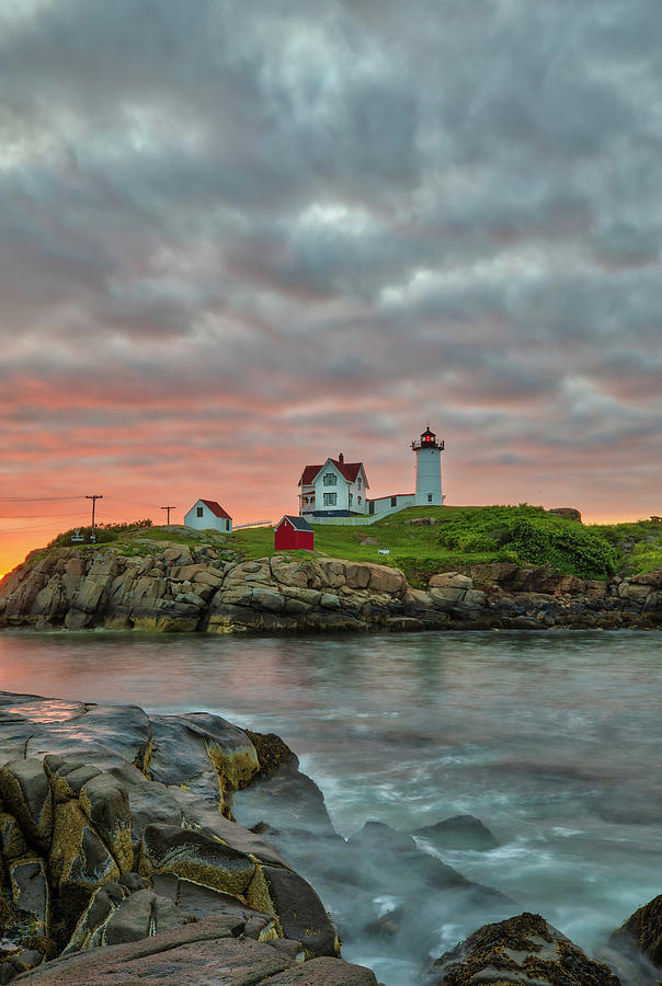 Maine Sunrise at Cape Neddick Lighthouse by Juergen Roth
