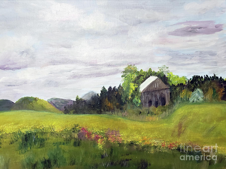 Majesteic Clouds Overlooking the Farm by Donna Walsh