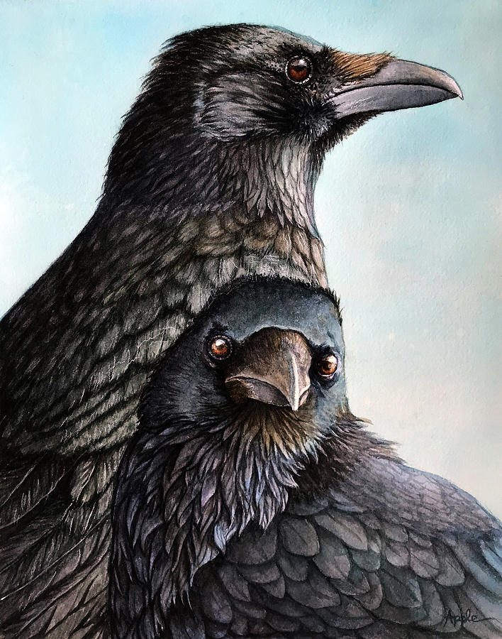 Majestic Crows by Linda Apple