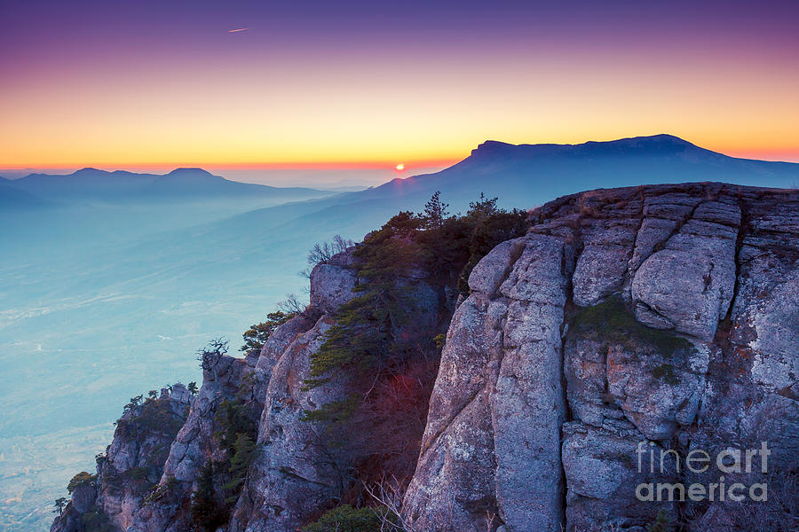 Dusk Photograph - Majestic Morning Mountain Landscape by Creative Travel Projects