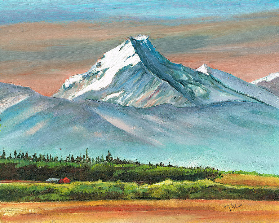 Foothills Painting - Majestic Mount Cook by Val Stokes