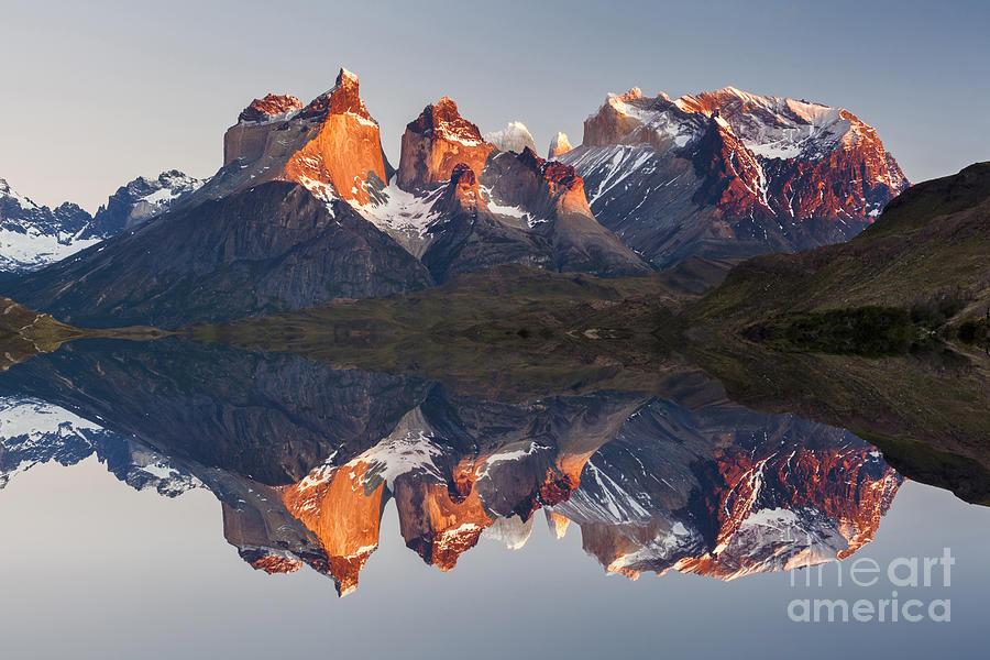 Beauty Photograph - Majestic Mountain Landscape. Reflection by Anton Petrus
