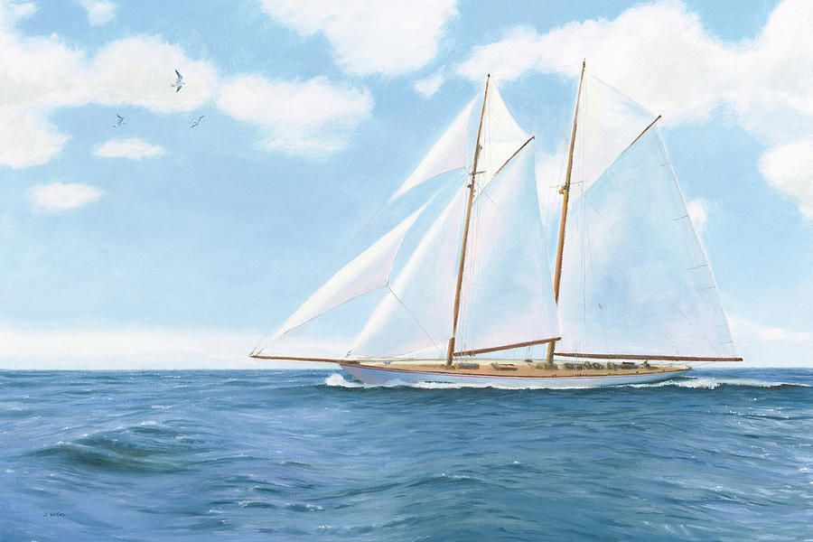 Boats Painting - Majestic Sailboat by James Wiens
