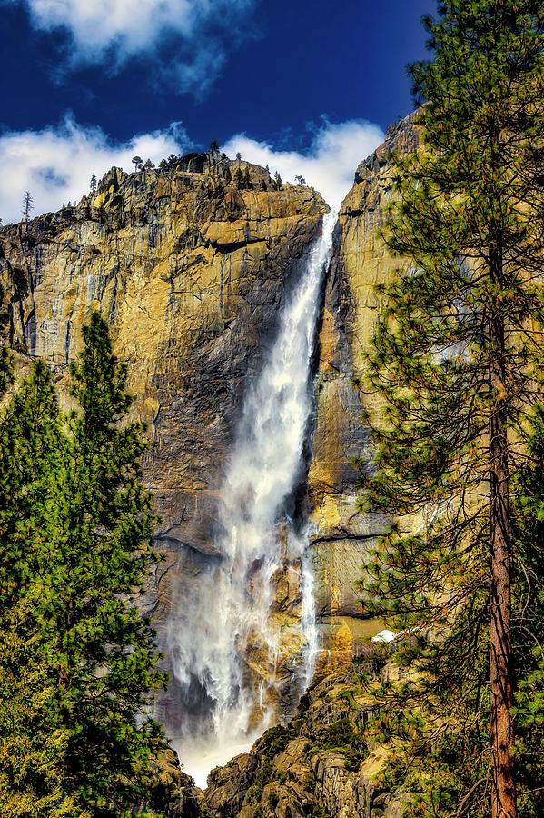 Majestic Upper Yosemite Fall by Garry Gay