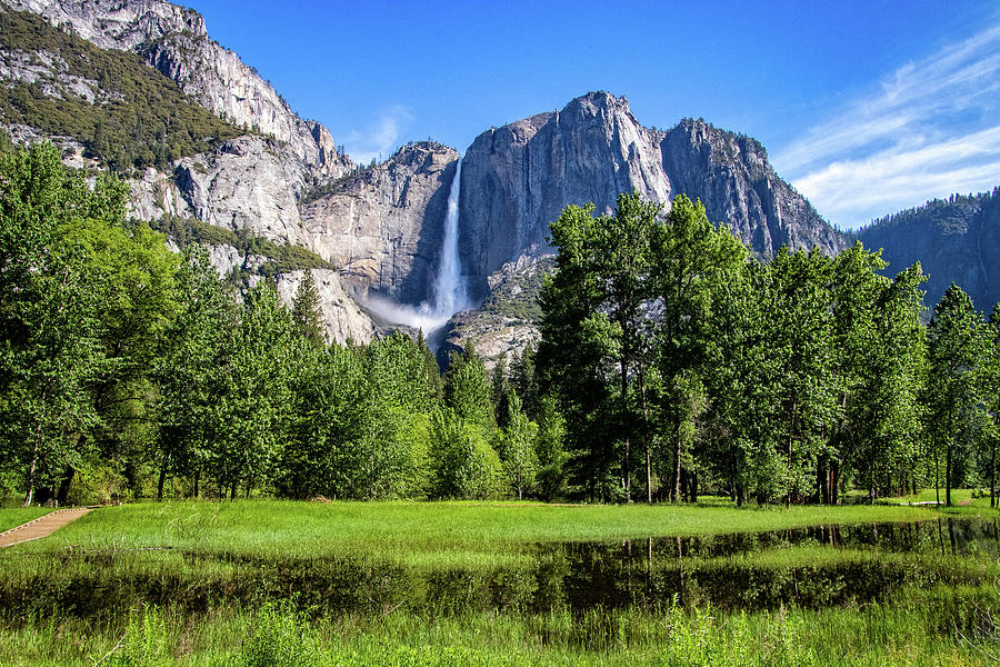 Majestic Yosemite Falls by Carolyn Derstine