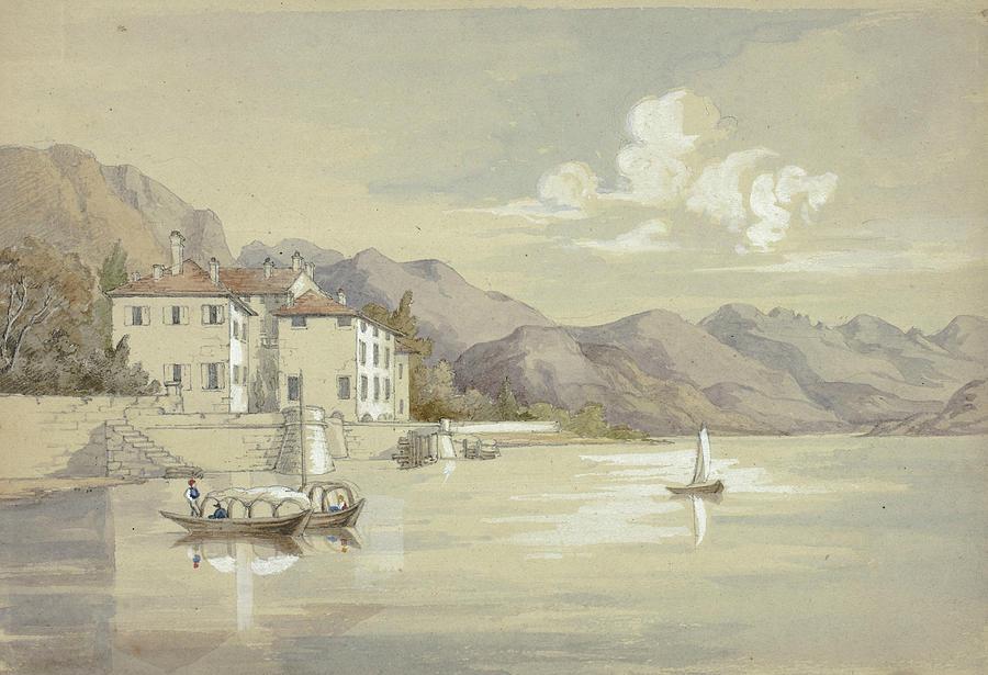 English Painters Drawing - Majolica, Lake Como by Elizabeth Murray