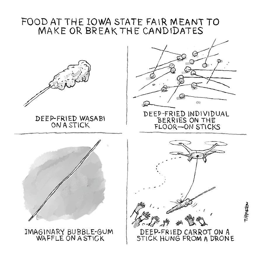 Make Or Break State Fair Food Drawing by Tim Hamilton