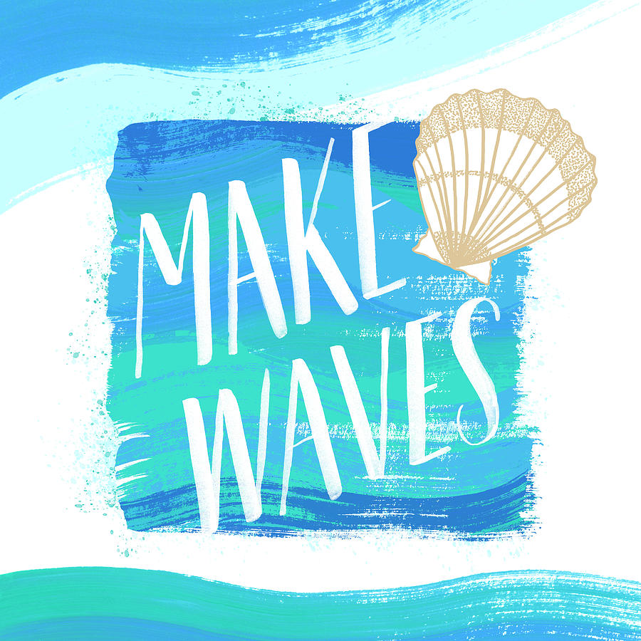 Make Waves Seashell Coastal Art by Jen Montgomery